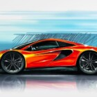 McLaren P13 teaser sketch surfaces